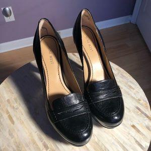 Nine West platform leather loafers, awesome!